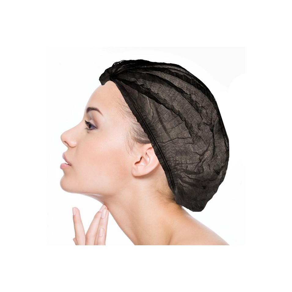 Charlotte Disposable Black : Head-Hair Protection (Medical, Aesthetic, Industry, Agribusiness, Beauty, Bikes, Virtual Reality)