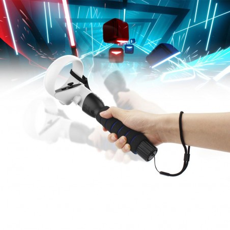 Playing Beat Saber with an adapted accessory